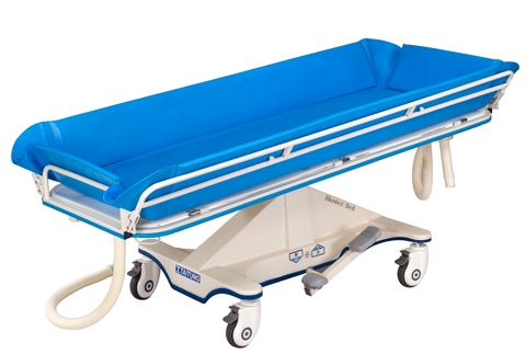 Hospital Shower bed, Medical Shower trolley, Nursing home Shower, Showering bed, Showering trolley, home for the aged shower, House of Respect for the Aged