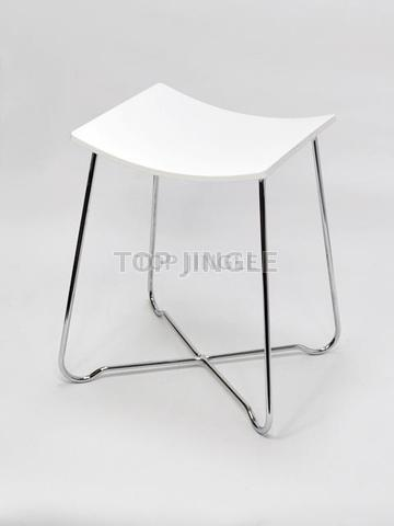 Prime Taiwan White Acrylic Single Stool Taiwantrade Onthecornerstone Fun Painted Chair Ideas Images Onthecornerstoneorg