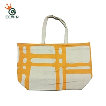 White Canvas Tote Bag With Inside Pocket Custom Pattern Supplier