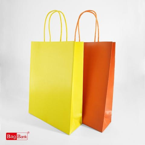 Customized Carrier Paper Bag with WT/BK/RD Paper Rope (OEM)