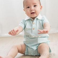 Baby flat knit collar romper, Baby boys jumper suit