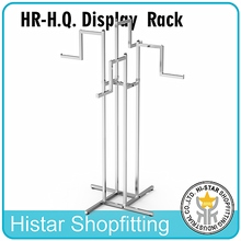Metal chrome clothes display rack & table fixture shop fitting HQ zara