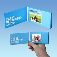 "2.4"" Video Card Type Media Player Signage"