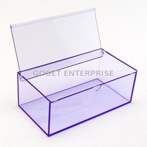 Taiwan Clear Plastic Storage Box With Hinged Lid For Wedding Party