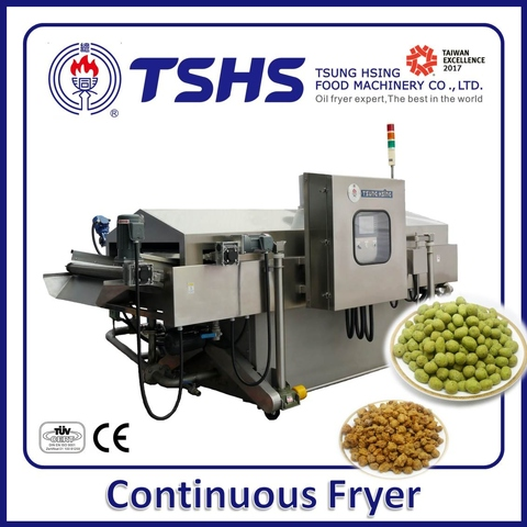 Continuous Green Peas Fryer