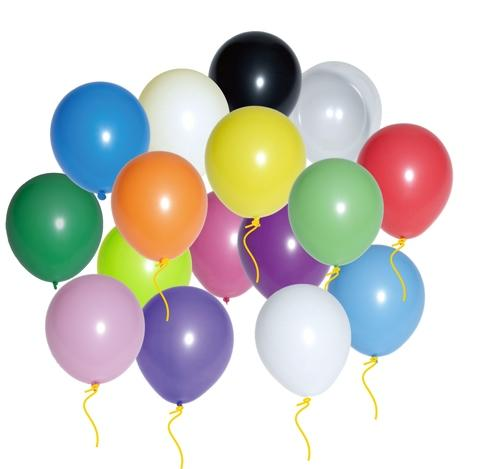 12 inches round latex balloons