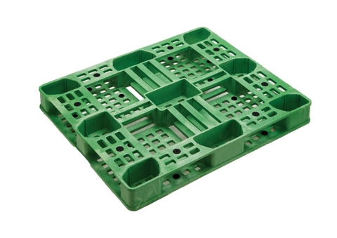 Stackable Heavy Duty Green Plastic Euro Pallet