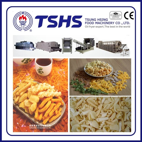 Made in Taiwan Commercial Pellet snacks Extruder Line