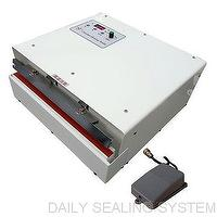 Pedal switch controlled constant heat sealer