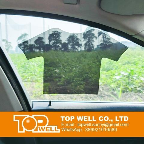 Transparent static window film