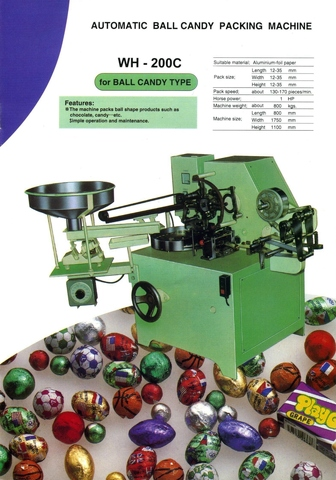 Ball Chocolate Candy Over-Wrapper WH-200C