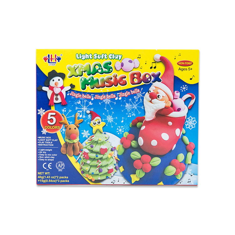 Christmas Music Box Polymer Clay Set