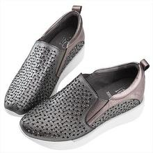 【Women's Shoes】【Girls's Shoes】【Sneakers】【Casual Shoes】【Flat Shoes】【Genuine Leather】【Robinlo & Co.】【2017FW】Della Tin gray & Silver