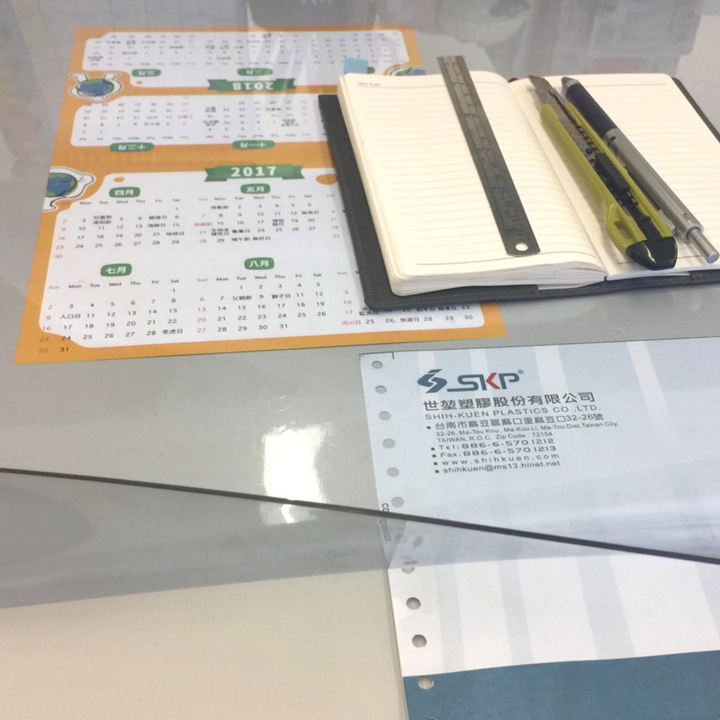Taiwan Plastic Sheets Material For Clear Desk Pad
