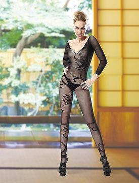 Mature sexy women in nylons Seductive Long Sleeve Body V Neck W Criss Cross Detailed At Back Mature Women In Sexy Lingerie Sexy Body Stocking Taiwantrade Com