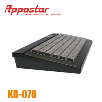 Programmable KeyboardAppostar Programmable Keyboard KB078 right Side View