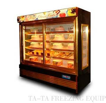 Cake Display Chiller/ 2 Front Golden Sliding Doors Commercial  Refrigerator/glass Front Refrigerator /display Fridge / Clear Door Fridge /  Pastry Display ...