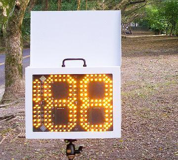 "Winning Flair 10"" digit power saving speed sign, portable"