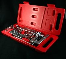 Pipe flaring tool kit with flare & swage function on AC