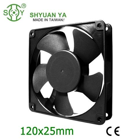4 inch cooling fan 120x120x25 12v plastic fan blade