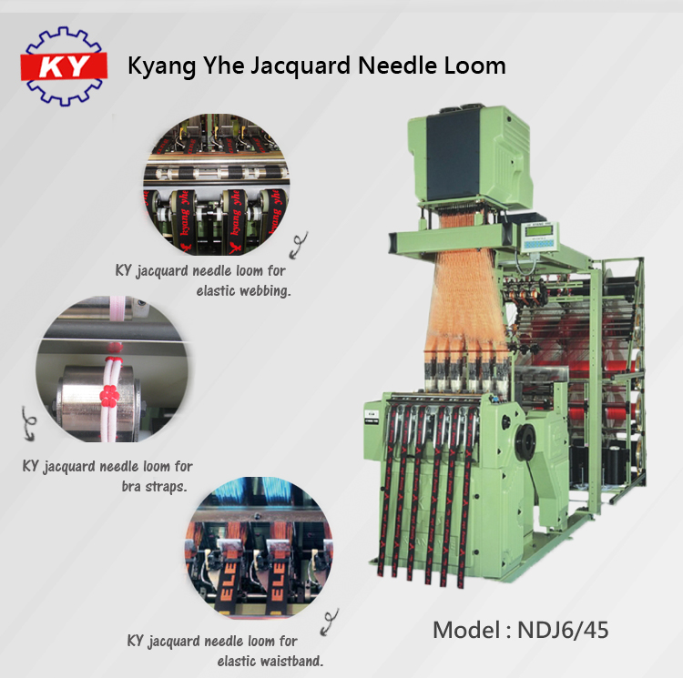 Taiwan KY Swiss muller type high speed automatic jacquard