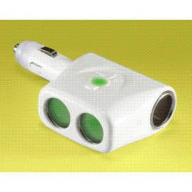 12V/10A TRIPLE ACCESSORY ADAPTOR WITH ADJUSTABLE DIRECTION (WITH ONE SOCKET FOR CIGARETTE LIGHTER)( WITH COLOR CHANGING LED)
