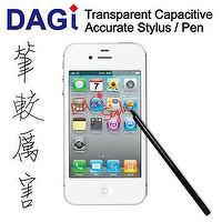 Apple New iPad iPad2 iPhone iPod touch Transparent Capacitive DAGi Stylus Styli Pen Stylet Griffel fits for Windows Phone Mango HTC Titan, O