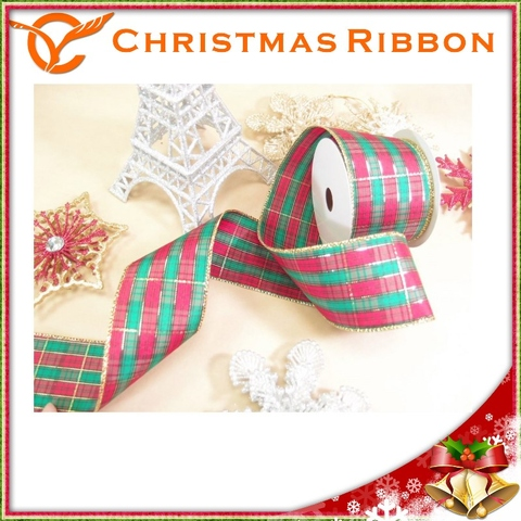 taiwan new product red and green plaid christmas ribbon taiwantradecom - Plaid Christmas Ribbon