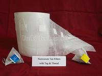 Nonwoven Tea Filters with Tag and Thread