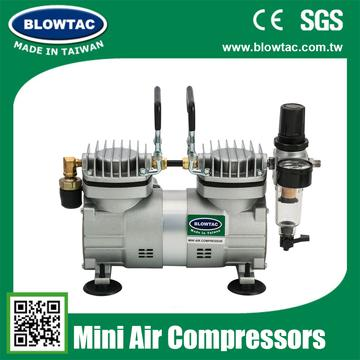 TC-30TS Double cylinders Mini Air Compressor with cover
