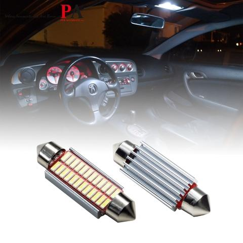 PA Auto Car Interior Mirror Light Bulb Reading Lamp 3014 24SMD LED 41mm Festoon Canbus