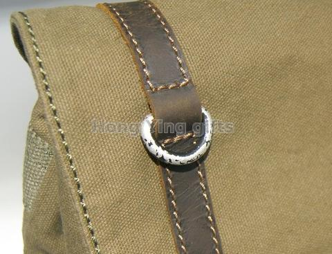 casual canvas backpack flap bag with buckle