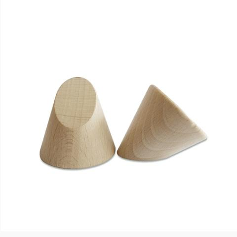 Plain Wood Top Cut Cone