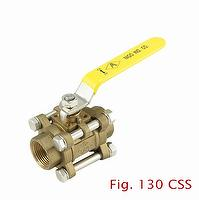 3-pc Forged Brass Ball Valve