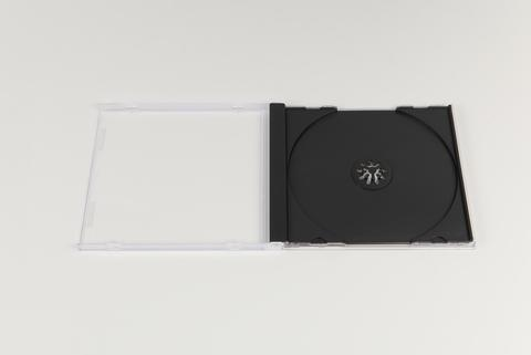 Thick Clear CD Jewel Case Black Tray