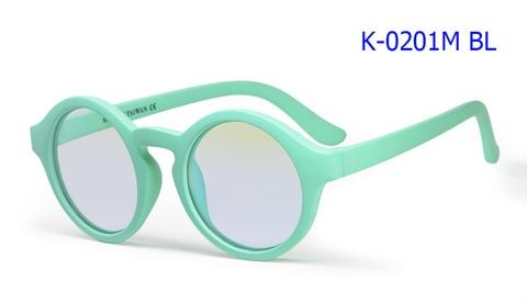 Rubber Blue Block Kids Eyeglasses