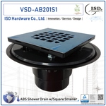 ABS Shower Drains with Square S.S. Snap Strainer