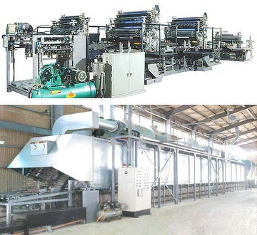 Metal sheets Printing, Coating and Drying line / Tin cans making line