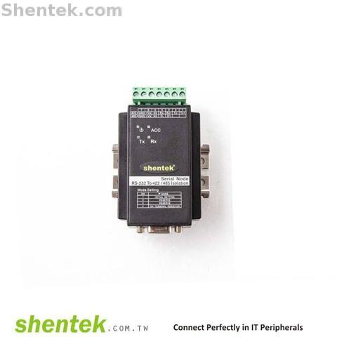 Shentek Serial RS485 RS422 To RS232 Addressable Converter