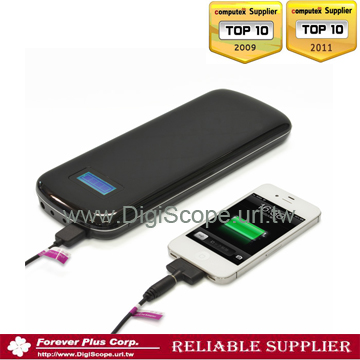 NEW 2014 Portable 2,2000 mAh Li-Polymer Battery Bank, AA Charger, Power Bank,iPhone Charger, Mobile Phone Charger, GPS Charger-1