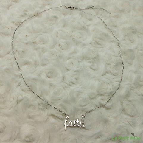 925 Silver Necklace Faith Pendant