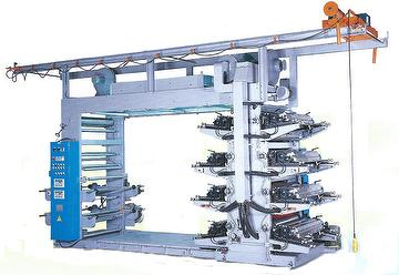 Luminary 8 Colors Stack Type Flexographic Printing Machine 004