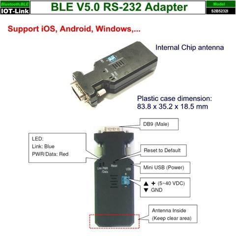 RS232 Bluetooth BLE V5.0 adapter profile