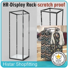 New design metal chrome clothes display rack scratch proof shop fitting zara