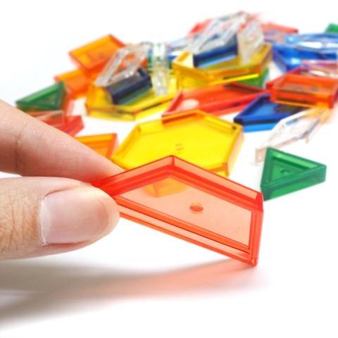 Pattern blocks transparent