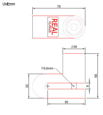 Motorcycle Brake Disc Lock structural drawing