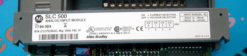 PLC-ALLEN BRADLEY 1746-NI4 INPUT MODULE ANALOG 4POINT SLC500