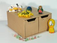 Storage box with 2 drawers (cardboard) (SL-AP04-ICL)