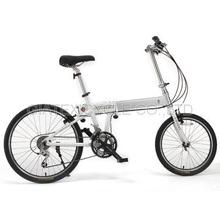 "【GIATEX】24"" Stretching Bike Portable Bicycle 27 Speed / Frame Adjustable - White"
