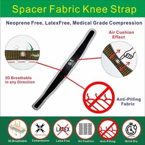 Adjustable Wrap around Spacer Fabric Knee Brace
